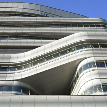 Jacobs Medical Center La Jolla curved insulated printed glass units