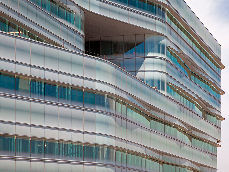 Jacobs Medical Center La Jolla curved printed insulated glass units