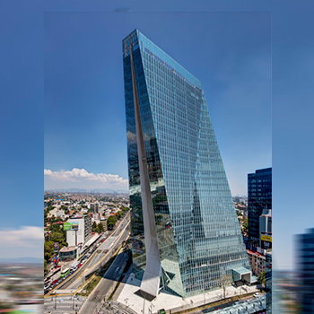 Manacar Tower CDMX glass facade insulated units
