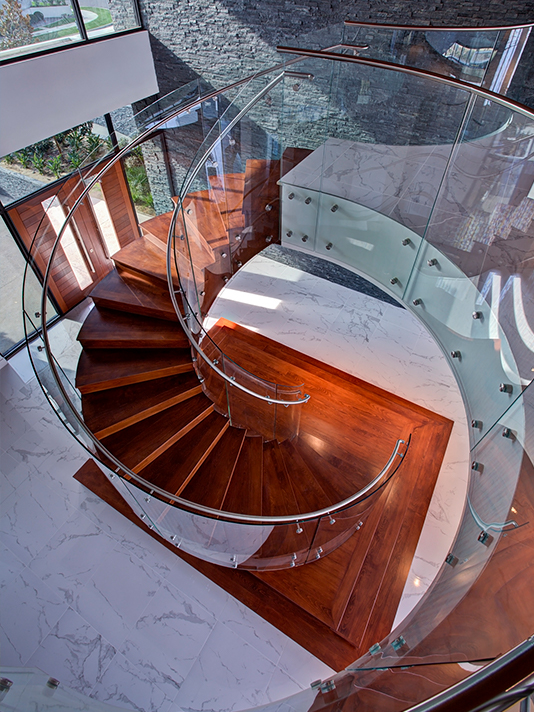 Watson Spiral Glass staircase curved