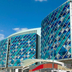Dupont Nemours Children Hospital spandrel glass facade